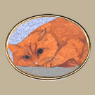 Cat Profile Pin