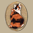 Black and Brown Cat Pin