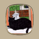 Gary's Cat on Sill Pin