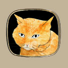 Cat w/Orange Head Pin